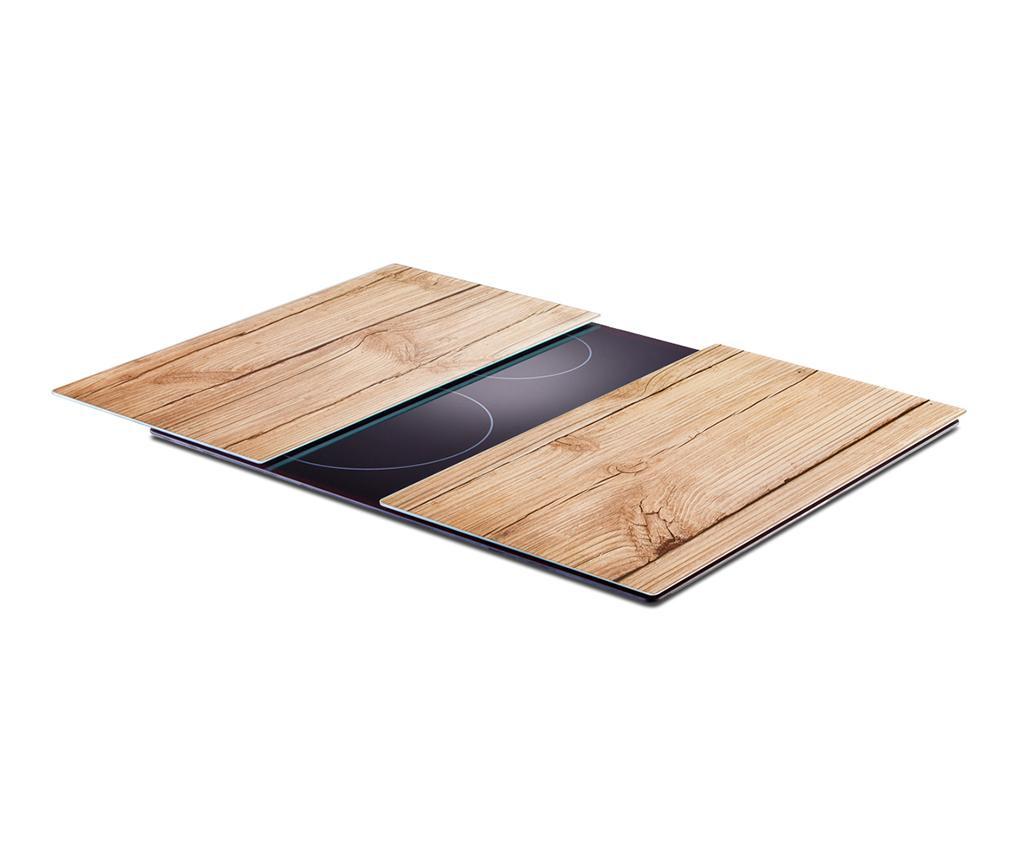 Set 2 planse protectoare pentru plita Wood 30x52 cm
