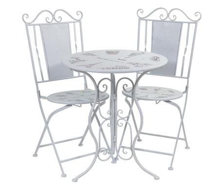 Set - vrtna miza in 2 vrtna stola Charlize