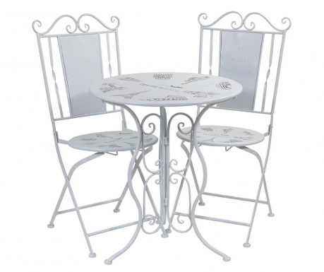 Set masa si 2 scaune pentru exterior Charlize