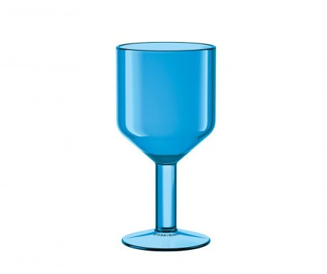 Kozarec za vino The Good Times Light Blue 240 ml
