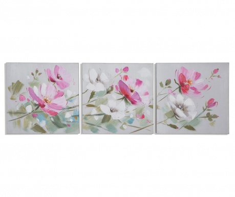Set 3 tablouri Garden Flowers 30x30 cm