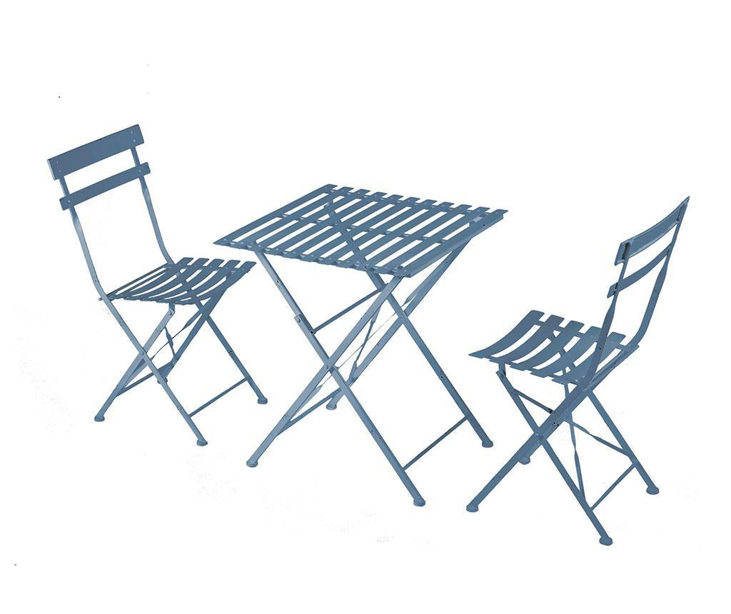 Set sklopivi stol i 2 sklopive stolice za vanjski prostor Cristine Blue
