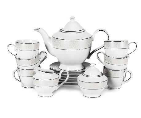 Чаен сервиз 15 части Crissy Platinum
