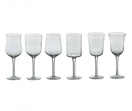 Сервиз 6 чаши със столче Clear
