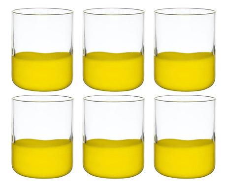 Сервиз 6 чаши Duo Yellow 300 мл