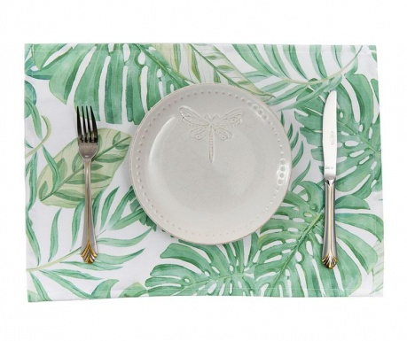 Set 2 pogrinjkov White Tropical 33x45 cm