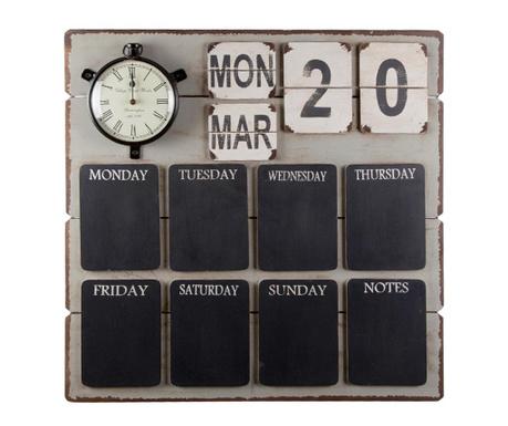Пано за бележки с часовник и календар Notes