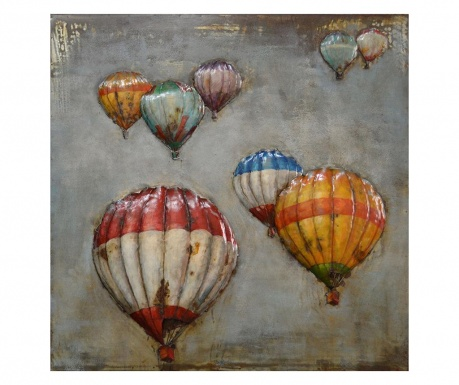 Decoratiune de perete Balloon Travel