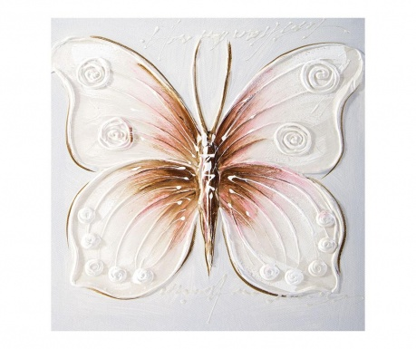 Motyl Festmény 30x30 cm