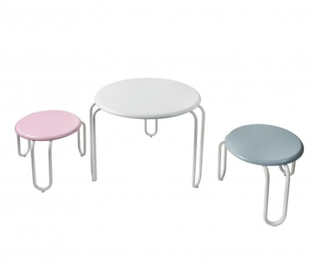 Set stolić s 2 stolčića za djecu Goldy