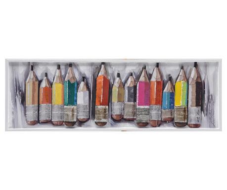 Картина Crayons 40x120 см