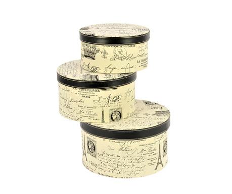 Комплект 3 кутии с капак Correspondance