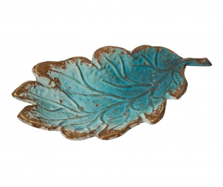Platou decorativ Blue Leaf
