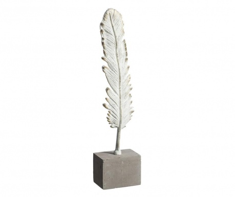 Decoratiune White Leaf M