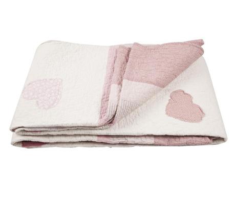 Hearts Patch Old Pink Steppelt Ágytakaró