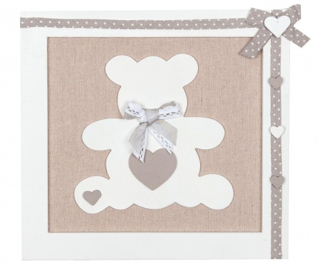 Teddy Bear Grey Fali dekoráció