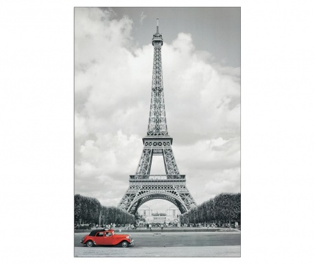 Tablou Paris Red Car 60x90 cm