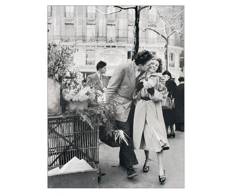 Les amoureux aux Poireaux Kép 47x62 cm
