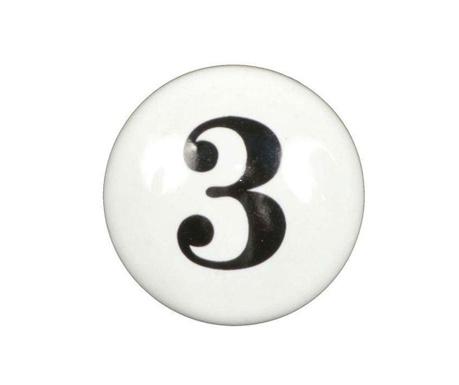 Number Three Fiókgomb