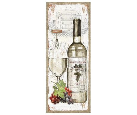 Tablou Vin Blanc 20x50 cm