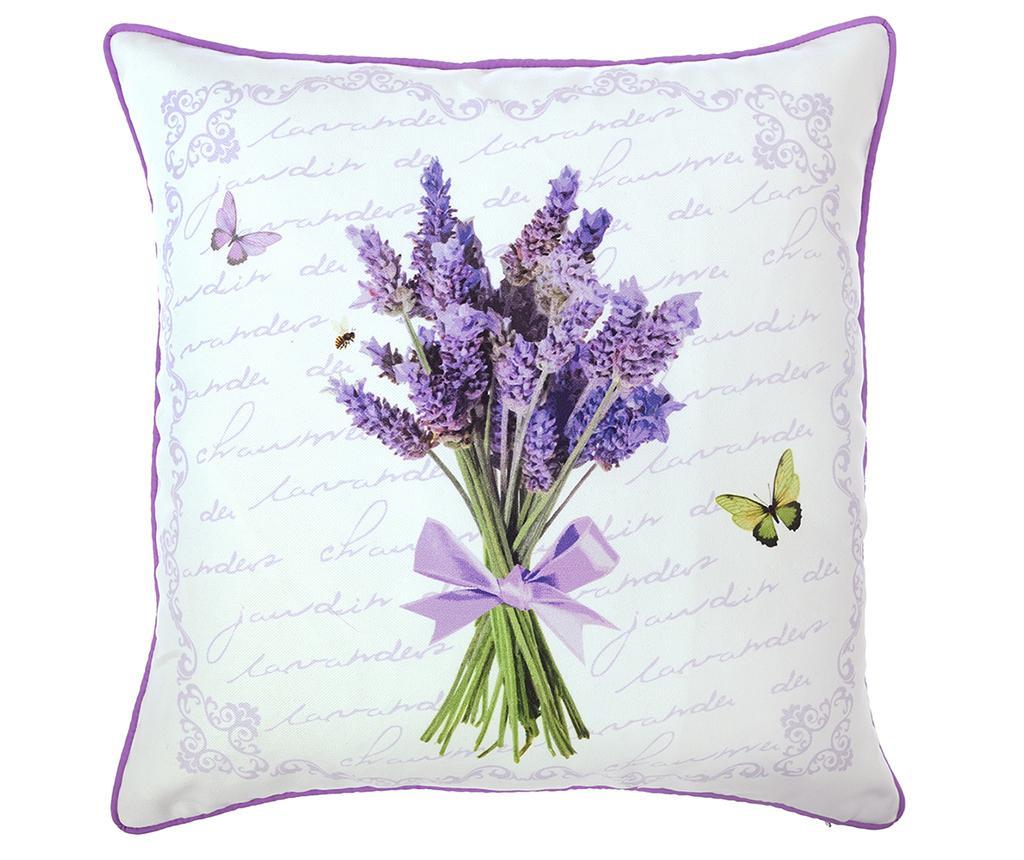 Jastučnica Butterfly & Lavender 43x43 cm