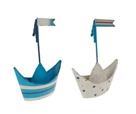 Set 2 držača za posjetnice Boat