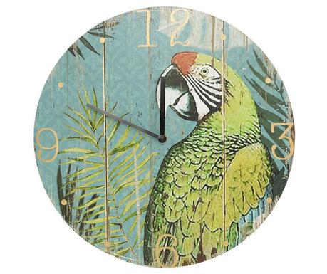 Zidni sat Palm Parrot