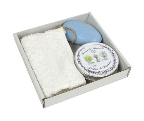 Set kupaonski ručnik i 2 sapuna Parfum de Provence