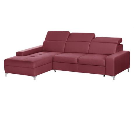 Разтегателен ляв ъглов диван Cardigan Red