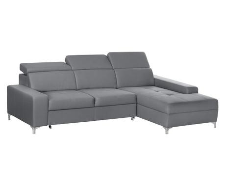 Разтегателен десен ъглов диван Cardigan Grey