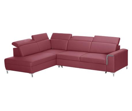 Разтегателен ляв ъглов диван Serafino Red