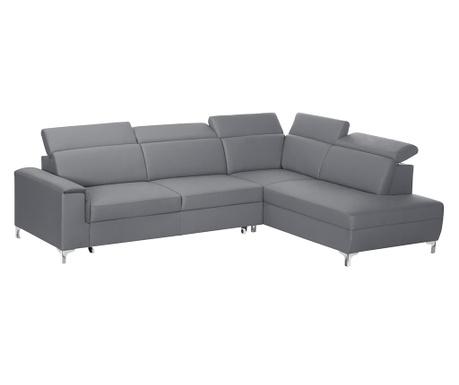 Разтегателен десен ъглов диван Serafino Grey
