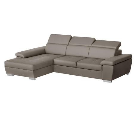 Разтегателен ляв ъглов диван Twinset Grey Brown