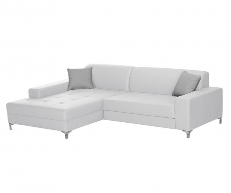 Ляв ъглов диван Symbole White