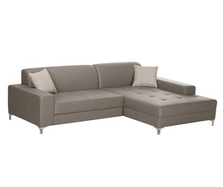 Ляв ъглов диван Symbole Grey Brown