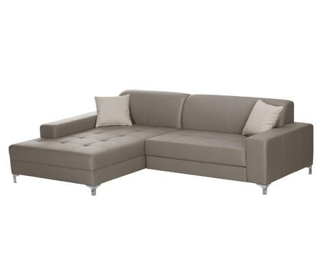 Разтегателен ляв ъглов диван Symbole Grey Brown