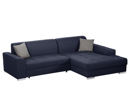 Разтегателен десен ъглов диван Icone Blue