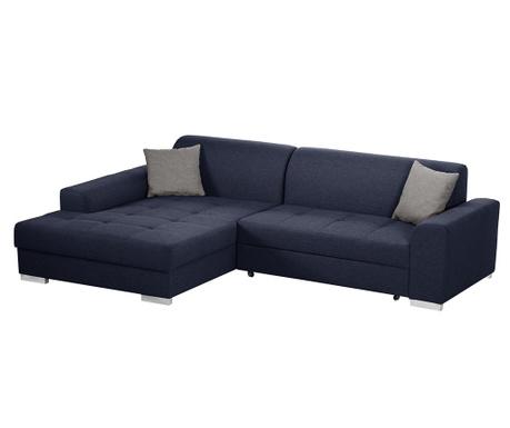 Разтегателен ляв ъглов диван Icone Blue