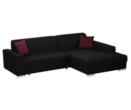 Разтегателен десен ъглов диван Icone Black