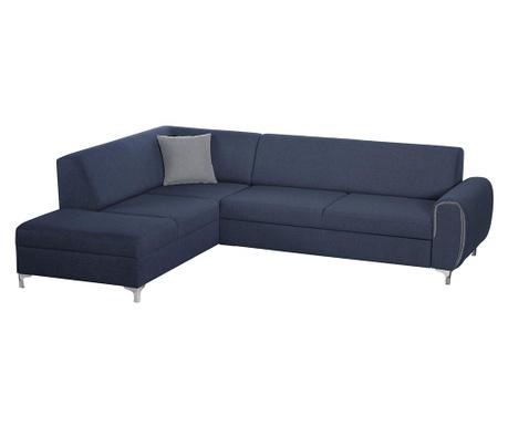 Ляв ъглов диван Contour Blue