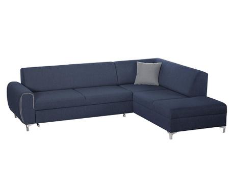 Разтегателен десен ъглов диван Contour Blue