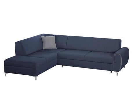 Разтегателен ляв ъглов диван Contour Blue