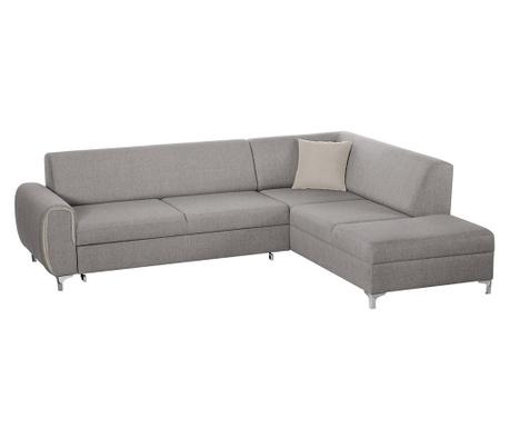 Разтегателен десен ъглов диван Contour Grey