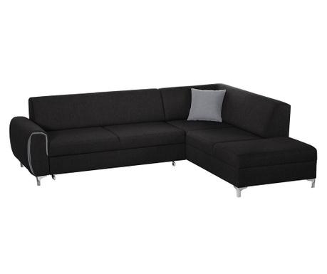 Разтегателен десен ъглов диван Contour Black