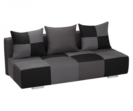 Kauč trosjed na razvlačenje Dandy Grey Black and Anthracite
