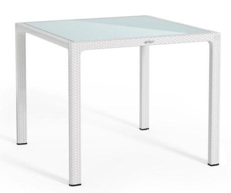 Vrtna miza Raffia Like White