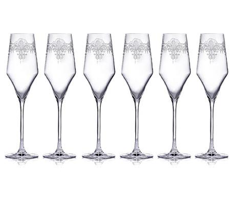Set 6 čaša za pjenušac Aram 220 ml