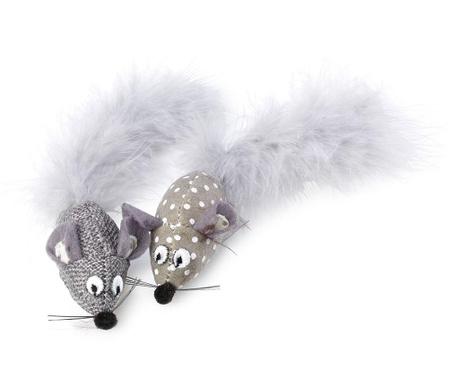 Set 2 jucarii pentru pisici Riley Mice