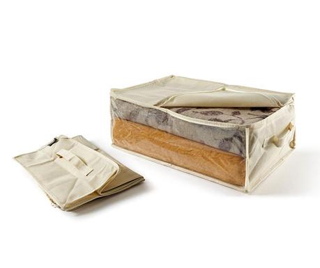 Set 2 shranjevalnih vreč Georgya Ecru