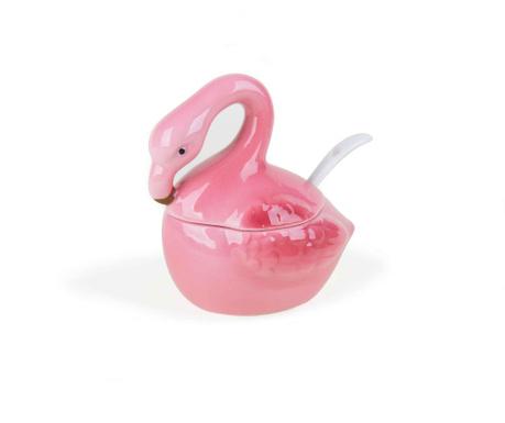 Sada cukornička s vekom a lyžička Sweet Flamingo